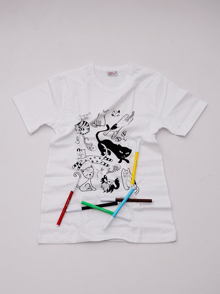 Tshirt Ve Boyama Seti Munzur Kediler 8 12 Yaş Ev Yaşam The