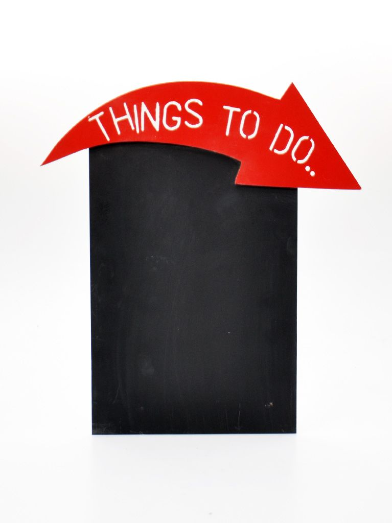 Ahşap Kara Tahta - Chalkboard (Things To Do)