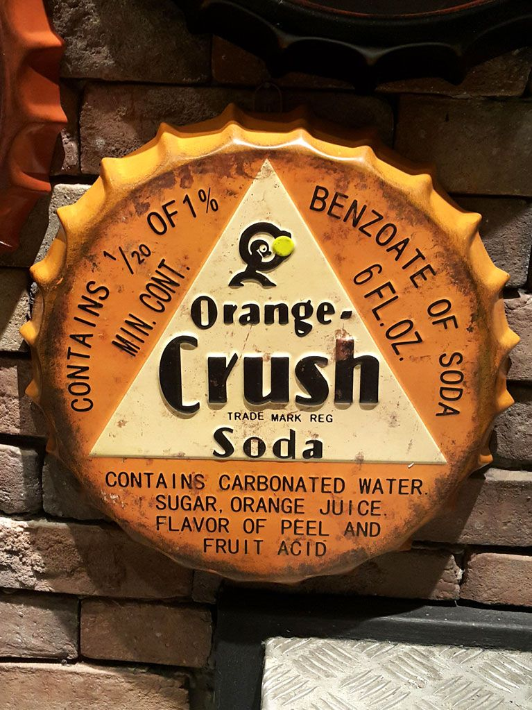 Metal Kapak Pano - Orange Crush Soda YL7220