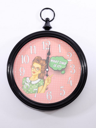 Pop Art Duvar Saati - What time is it? D-217