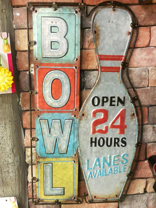 Metal Pano - Bowling Open 24 Hours YY71131