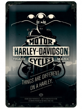 Nostalgic Art Harley Davidson Things Are Different Teneke Tabela 20x30