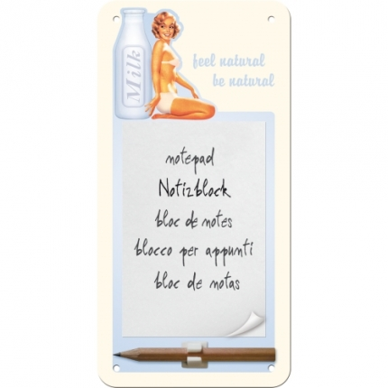 Nostalgic Art Milk Magnet Notebook