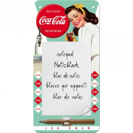 Nostalgic Art Coca Cola Magnet Notebook